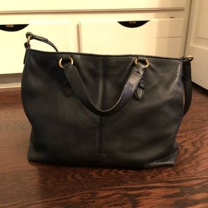 Ralph Lauren Black Leather Tote